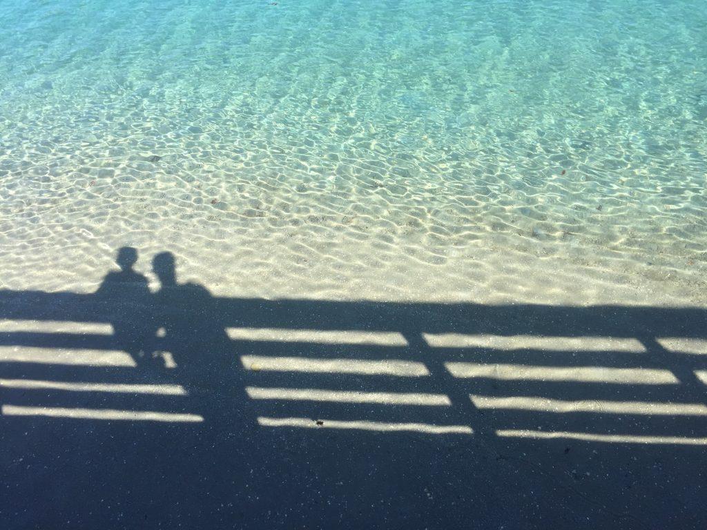 shadows ocean